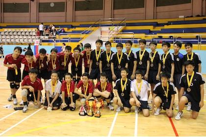 C Division Boys' Volleyball Bukit Panjang Govt High beat Xinmin 3-0 to win championship