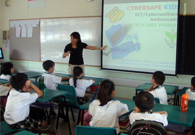 Showing schoolmates the safe way to cyberspace