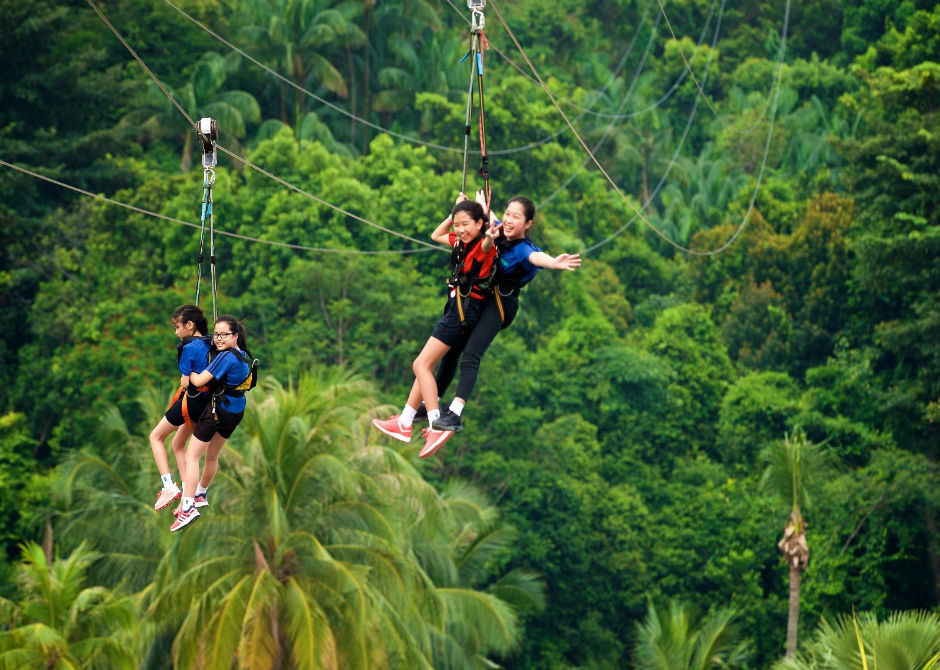 Marymount Convent outdoor education - zipline