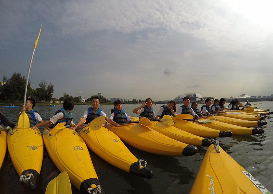 Zhenghua Secondary School kayaking